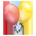 petite icone ballons colores