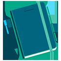 petite icone agenda bleu