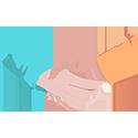 petite icone poignee de mains